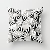 Party Triangles Throw Pillow