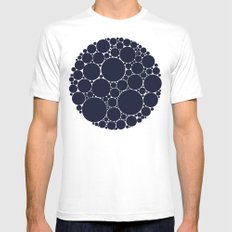Floating Dots Mens Fitted Tee White SMALL