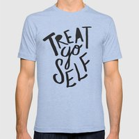 Treat Yo Self Mens Fitted Tee Tri-Blue SMALL
