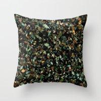 Panelscape: colours from KARMA CHAMELEON 3 Throw Pillow