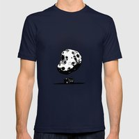 Trouble At Home Mens Fitted Tee Navy SMALL