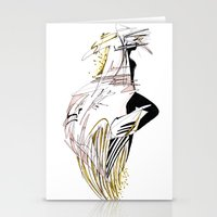 ELECTRIC GIRL Stationery Cards