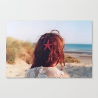 seaside girl Canvas Print
