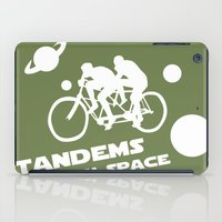 Tandems in Space in Green iPad Case