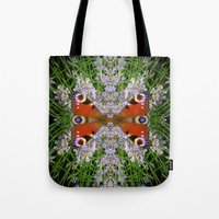 The Peacock Conversation Tote Bag