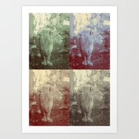Lions. Art Print