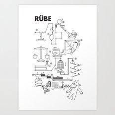 Rube Art Print