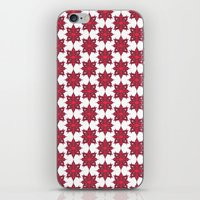 Flowery Red iPhone & iPod Skin