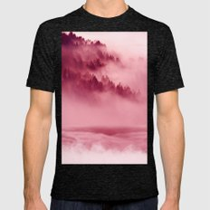 Pink Forest Mens Fitted Tee Tri-Black SMALL