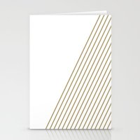 Tan & White Stripes  Stationery Cards