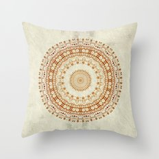 Mandala Desire in Golden Yellow Throw Pillow