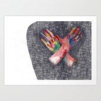 Hands #4 Art Print