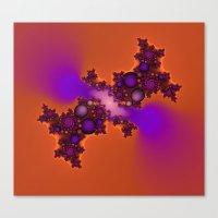 Purple and Orange Fractal Canvas Print
