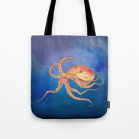 Octopus Blue Tote Bag