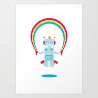 Skipping A Rainbow Art Print