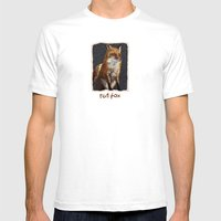 Red Fox Mens Fitted Tee White SMALL