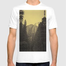 Yosemite Falls Tin Yellow Mens Fitted Tee White SMALL