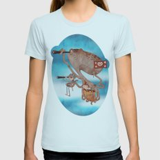 Pirates Womens Fitted Tee Light Blue SMALL