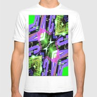 SKY SKRAPER Mens Fitted Tee White SMALL