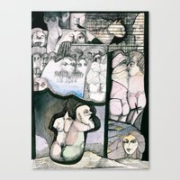Renting house Canvas Print