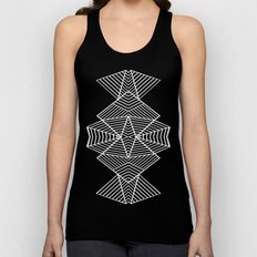Ab Zoom Mirror Black Unisex Tank Top