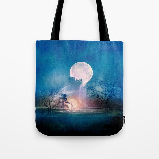Moon Above, Sun Below Tote Bag