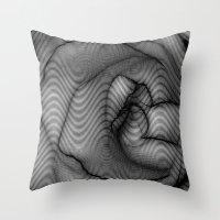 Charcoal Rose Throw Pillow
