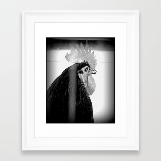 CHICKEN 002 Framed Art Print