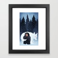 Snow And Ghost Framed Art Print