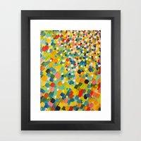 SWEPT AWAY 3 - Fresh Gre… Framed Art Print