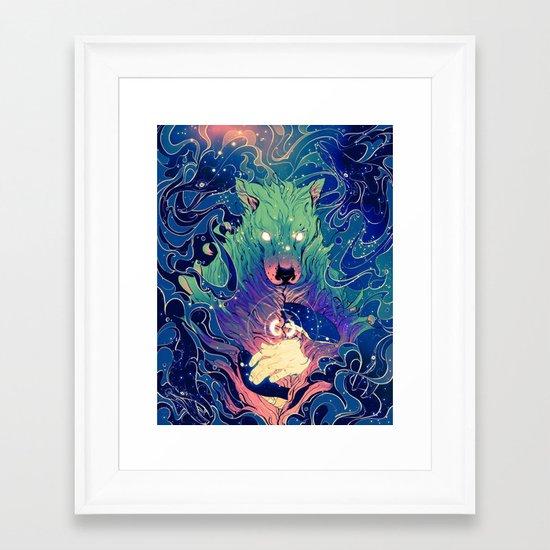 I Am Dog Framed Art Print