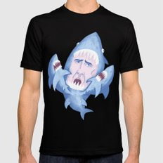Nic Cage is Sharks! SMALL Mens Fitted Tee Black