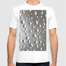 Rain SMALL White Mens Fitted Tee