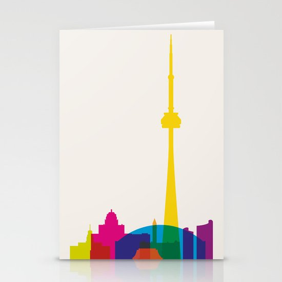 Shapes of Toronto. Accurate to scale Stationery Card