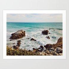 Leo Carrillo State Beach, Malibu Art Print