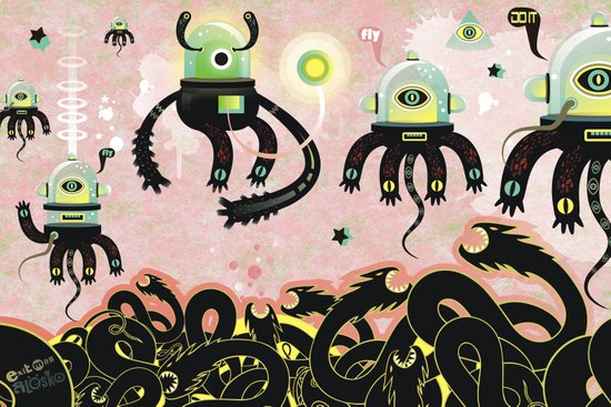 Over the Dragon sea Art Print