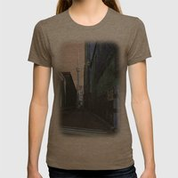 Shining Spire... Womens Fitted Tee Tri-Coffee SMALL