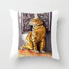 Cat Charlie Throw Pillow