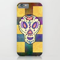 sugar skull iPhone & iPod Cases featuring Sugar Skull by Linda Tomei