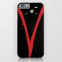 iPhone & iPod Case featuring V for Vendetta (e6) by Ezgi Kaya