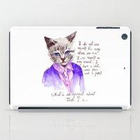 Fashion Mr. Cat Karl Lag… iPad Case