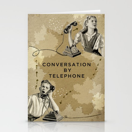 Conversation by Telephone Stationery Card