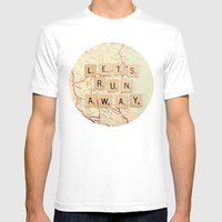 Let's Run Away Mens Fitted Tee White SMALL