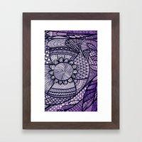 Purple Daze Framed Art Print