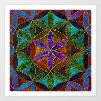 The Flower of Life (Sacred Geometry) 2 Art Print