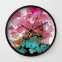 abstract bouquet on watercolors Wall Clock