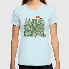Wisdom To The Nines Womens Fitted Tee Light Blue SMALL