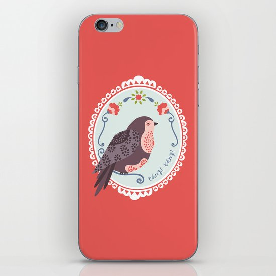 Signorina Pettirosso iPhone & iPod Skin