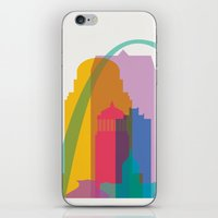 Shapes of St. Louis. Accurate to scale iPhone & iPod Skin