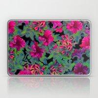 vivid pink petunia on black background Laptop & iPad Skin